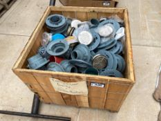 Crate of Asst. Roof/Floor Drains and Drain Bodies