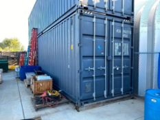 40' High Cube Sea Container w/ Shelving, Lighting (Contents not included)