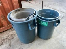 Lot of (4) Asst. Waste Cans