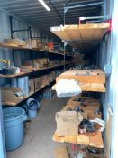 Contents of Sea Container including Pipe Fittings, PVC Fittings, Clamps, etc. (Seacan Not Included)