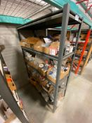 Metal Rack w/ Asst. Contents including Asst. Fasteners, Screws, Washers, etc.