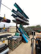 Contents of Cantilever Racking including Asst. PVC Pipes, etc. (Rack Not Included)