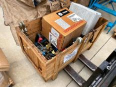 Crate of Asst. Straps, Chain Boomers, etc.