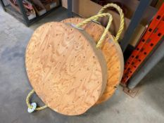 Lot of (2) Wood Outrigger Pads