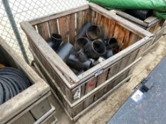 Lot of (3) Crates of Asst. Metal Piping, Fittings, etc.