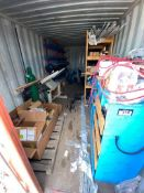 Contents of Sea Container including PVC Pipe and Fittings, Threaded Rod, Gas Cylinder Cart Etc. (Sea
