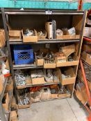 Metal Rack w/ Asst. Contents including Asst. Faucets, Drain Fittings, P-Traps, etc.