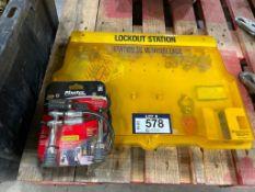 Lot of Lockout Station and MasterLock Bike/ Cargo Lock