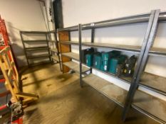 (7) Sections of Parts Shelving (Contents Not Included)