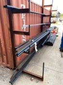 Contents of Cantilever Racking including Asst. Steel Pipes, Rebar, Etc. (Rack Not Included)