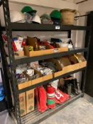 Contents of Racking including Fire Extinguisher, Hard Hats, First Aid, Etc. (Rack Not Included)
