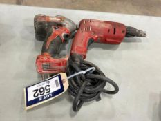 Lot of (1) Milwaukee Cordless Impact and (1) Milwaukee Electric Drill