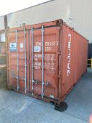 20' Sea Container w/ Shelving (Contents not included)