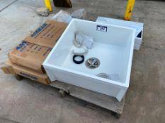 Pallet of Asst. Mop Sink, (2) Faucets, Trap Seal Primers, etc