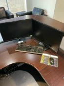 Lot of (2) LG Monitors w/ Keyboard and Mouse