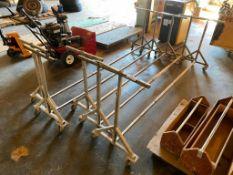 Lot of (5) Asst. Mobile Material Racks