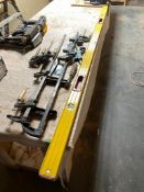 Lot of Asst. Clamps and (1) Level