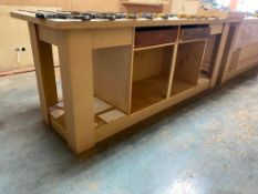 Lot of (2) Wooden Shop Tables