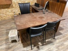 Lot of Desk, Task Chair, HP All-in-one PC, Monster Speaker, etc.