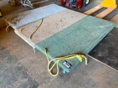 Lot of (3) Asst. Shop-Built Material Carts