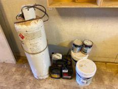 Lot of Asst. Adhesive Tank, Motor Oil, Paint, etc.