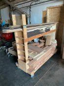 Rolling Lumber Cart w/ Asst. Lumber