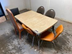 Lunchroom Table w/ (6) Asst. Chairs
