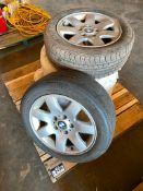 Pallet of (4) P205/55R16 Tires w/ BMW Rims