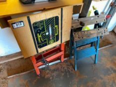 Lot of (2) Portable Work Benches