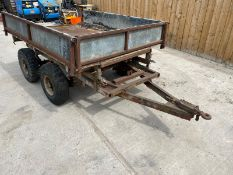 TWIN AXLE TIPPING TRAILER LOCATION NORTH YORKSHIRE