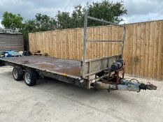 IFOR WILLIAMS LM166G FLAT BED TRAILER LOCATION NORTH YORKSHIRE