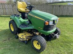 JOHN DEERE X748 DIESEL 4WD COMPANY TRACTOR RIDE ON MOWER LOCATION NORTH YORKSHIRE
