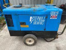 STEPHILL 10 KVA KUBOTA ENGINE.DIESEL GENERATOR.LOCATION NORTH YORKSHIRE.