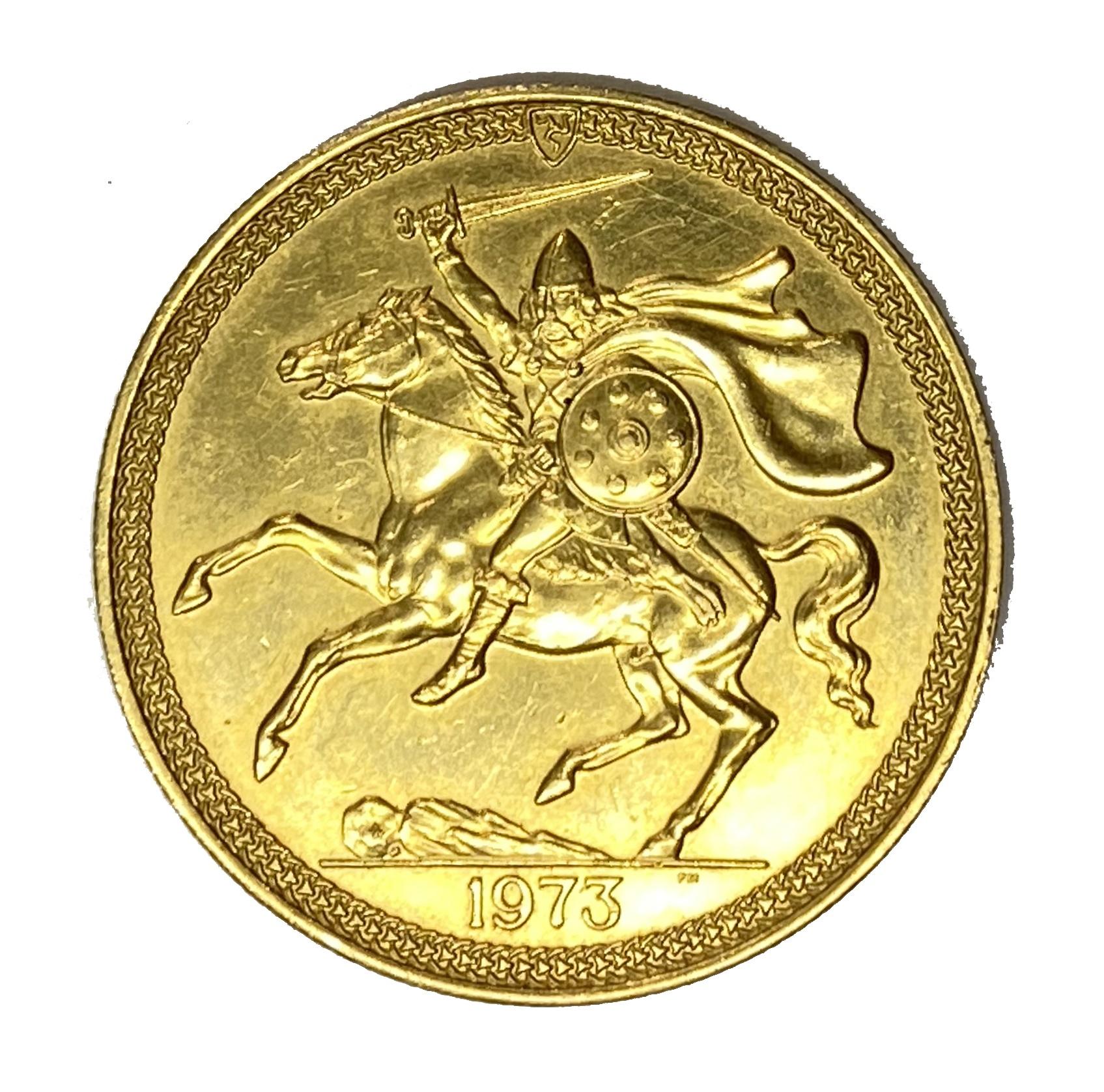 Elizabeth II Isle of Man £5 gold coin, 1973 - Image 2 of 2