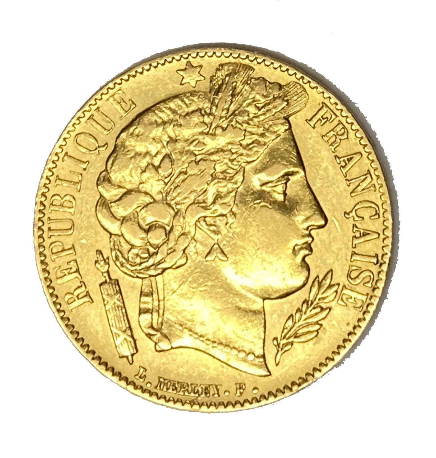 French Republic 20 Franc gold coin, 1851
