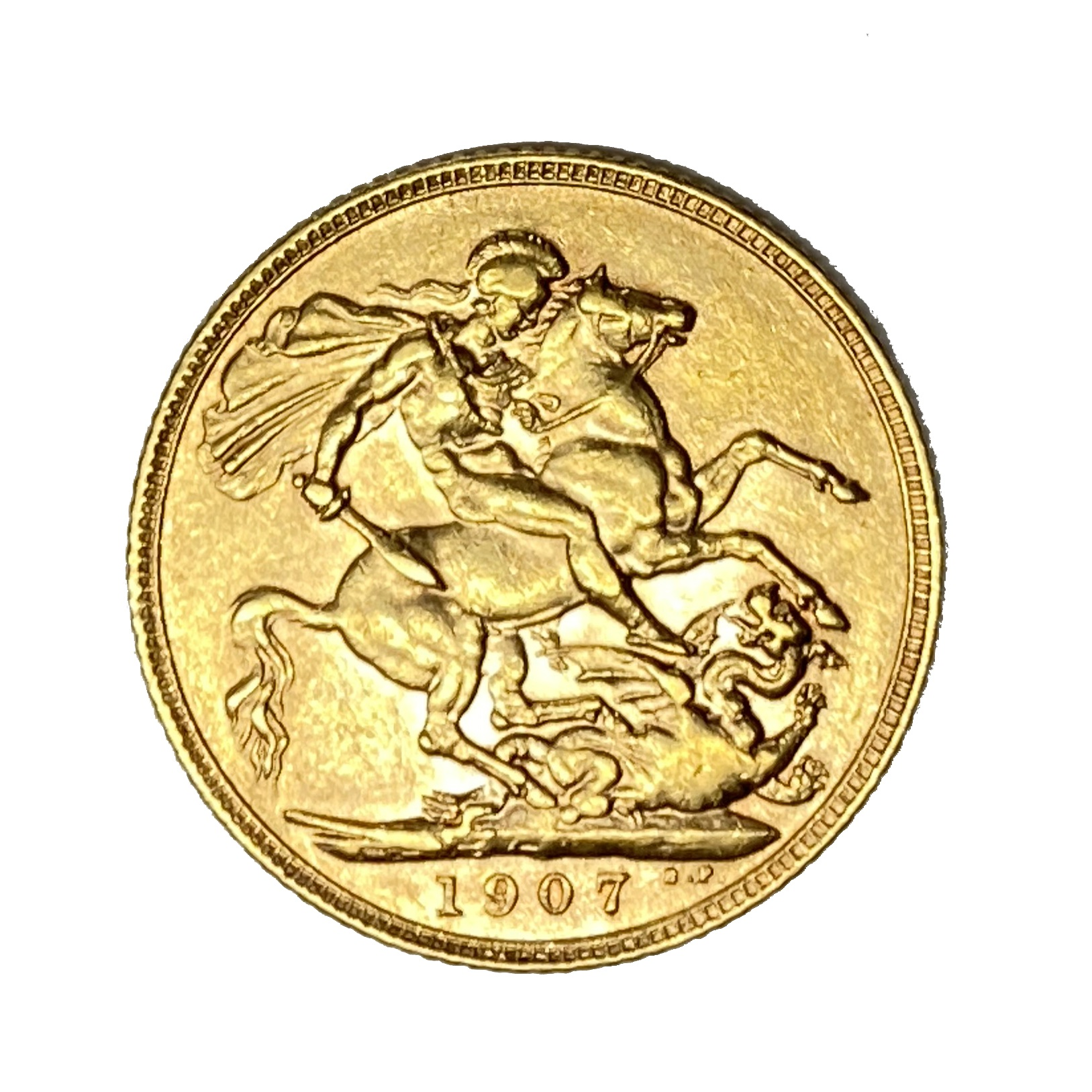 Edward VII gold Sovereign coin, 1907 - Image 2 of 2