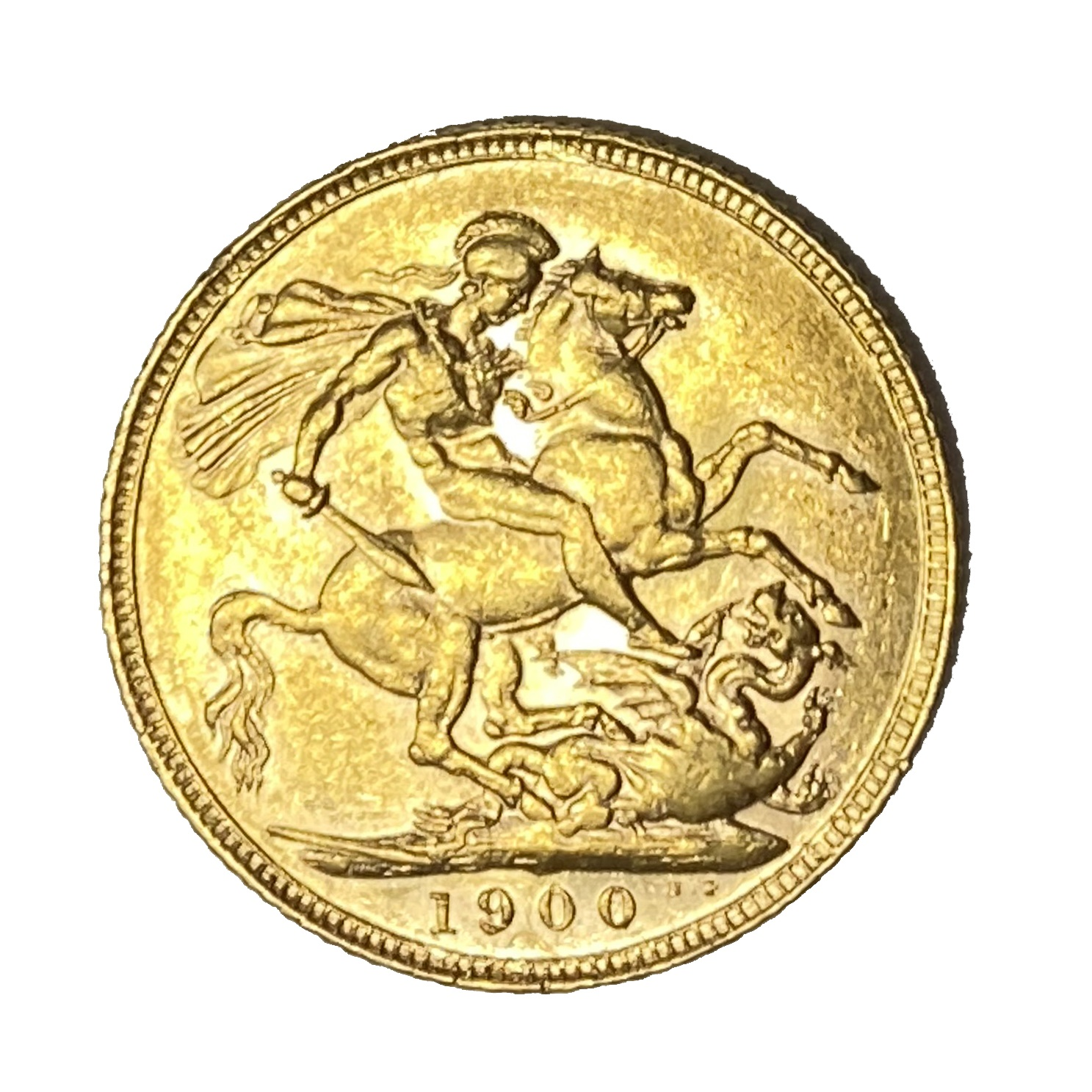 Queen Victoria gold Sovereign coin, 1900 - Image 2 of 2