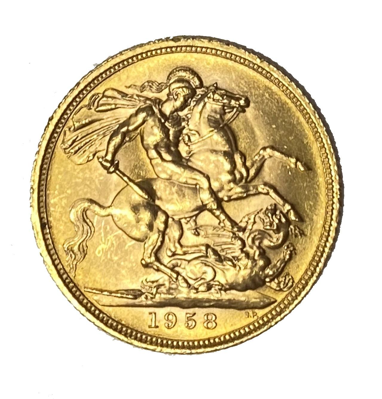 Elizabeth II gold Sovereign coin, 1958 - Image 2 of 2