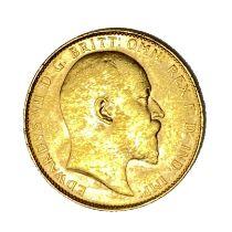 Edward VII gold Sovereign, 1907, Perth mint
