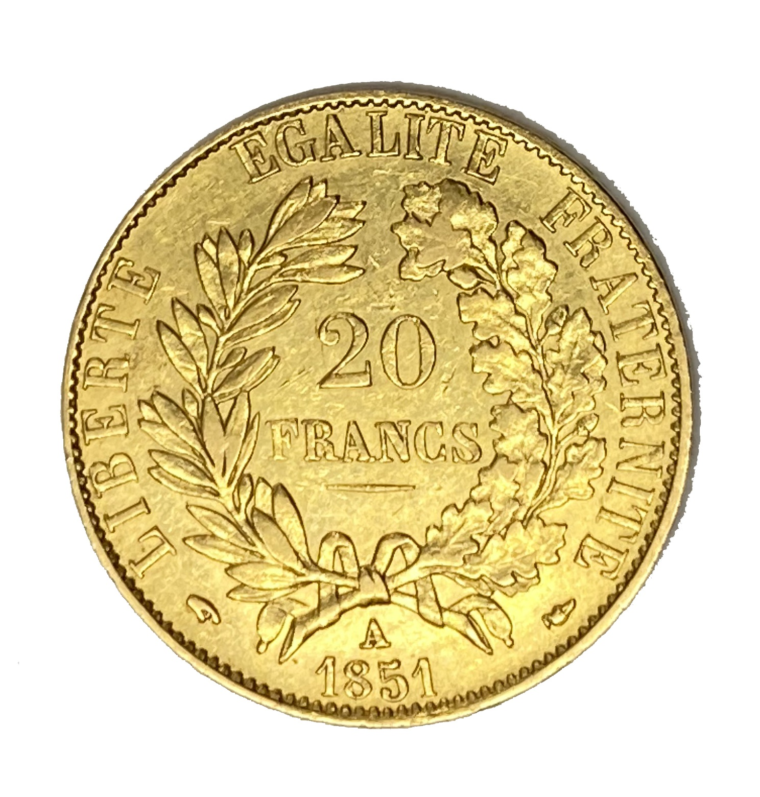 French Republic 20 Franc gold coin, 1851 - Image 2 of 2
