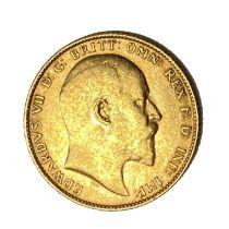 Edward VII gold Sovereign coin, 1902