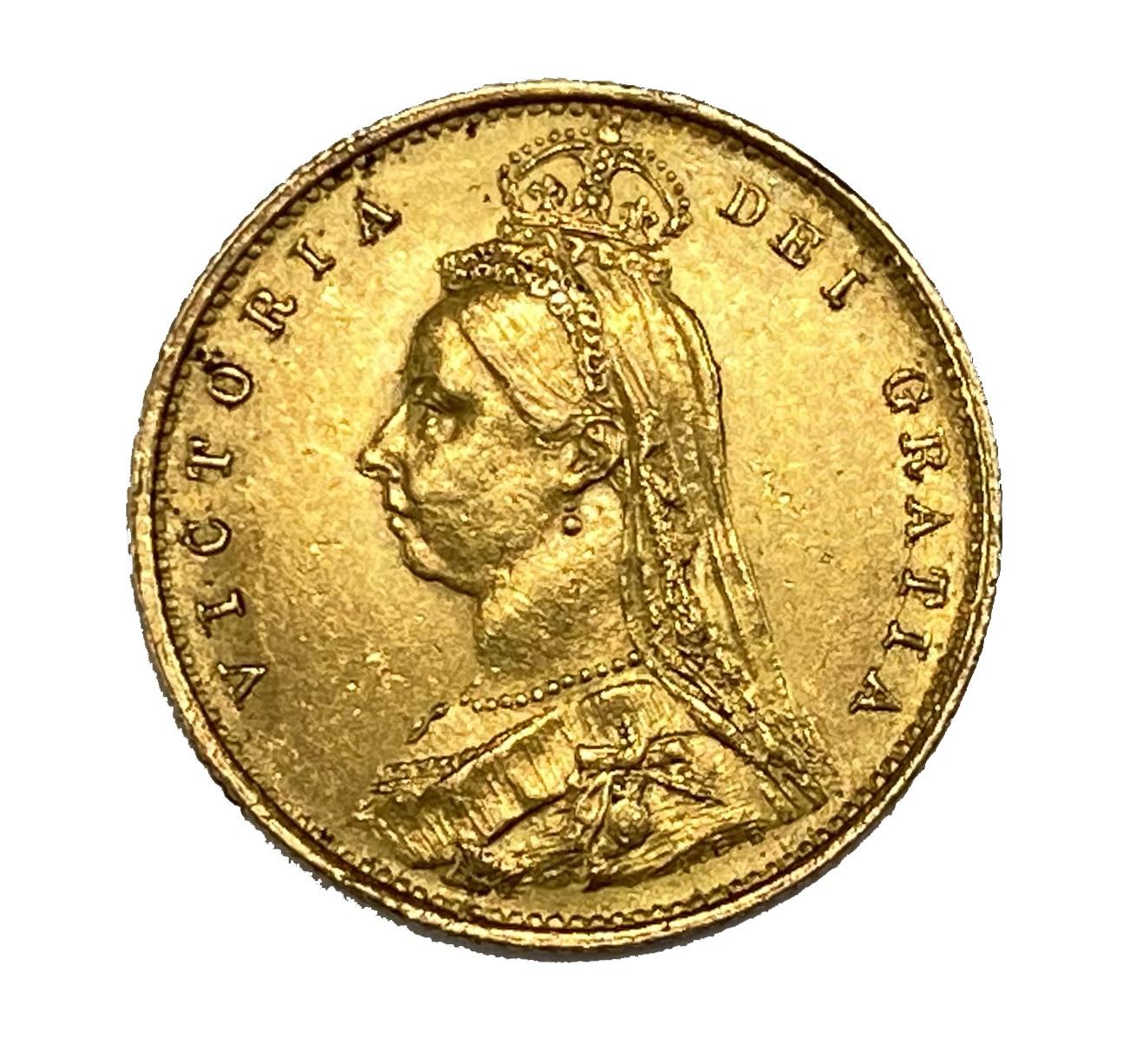 Victoria gold half Sovereign, 1887