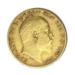 Edward VII gold half Sovereign coin, 1904