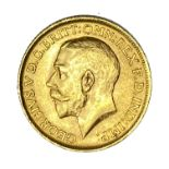 George V gold Sovereign coin, 1913