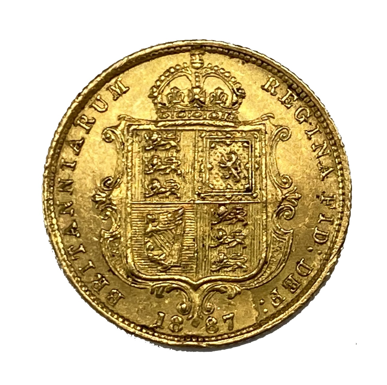 Victoria gold half Sovereign, 1887 - Image 2 of 2