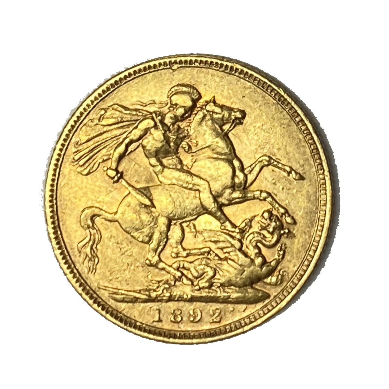 Queen Victoria gold Sovereign coin, 1892 - Image 2 of 2
