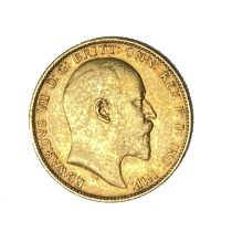 Edward VII gold Sovereign coin, 1903, Perth mint