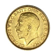 George V gold Sovereign coin, 1911, Perth mint