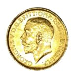 George V gold Sovereign coin, 1920, Perth mint