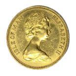 Elizabeth II Isle of Man £5 gold coin, 1973
